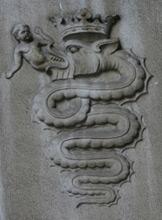 Il biscione dello stemma dei Visconti