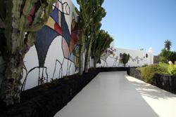 Bianco La casa di César Manrique, oggi sede dell'omonima fondazione