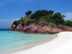 Sulla spiaggia in Malesia
