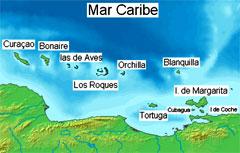 Tortuga La posizione dell'Isla Tortuga nel Mar dei Caraibi