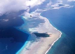 L'arcipelago Marshall visto dall'alto