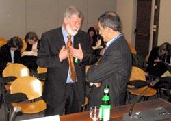 Pinny Millo e Kamal Al Quasi dopo la conferenza stampa a Milano