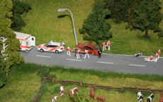 La ricostruzione di un incidente sulla statale