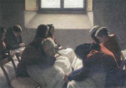 Angelo Morbelli, La sedia vuota, 1925