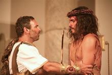 Pilato e Gesù nella ricostruzione brasiliana della Gerusalemme di duemila anni fa (Foto: Rafael Medeiros)