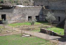 Il giardino della villa romana