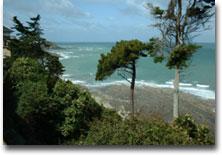 Panorama sul golfo dal giardino della villa di Christian Dior