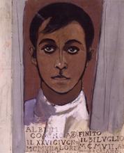 Album di studi. Foglio 46: Autoritratto, 1907