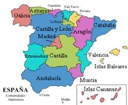 Spagna, le regioni autonome