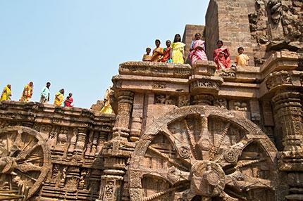 Il Tempio del Sole nella città di Konark, nello stato di Orissa. Foto: Angela Prati