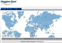 L'homepage del sito della Farnesina Viaggiaresicuri.it
