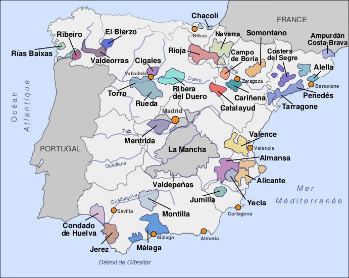 Cartina Geografica Spagna Costa Brava.Spagna A Rueda C E Una Bella Bodega