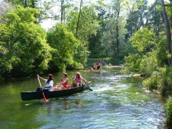 In canoa nel Parco del Ticino
