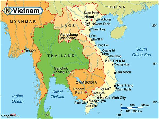 Tra Vietnam E Thailandia Cartina Geografica.Vietnam Modernita E Bellezza Di Fronte Alla Costa Cambogiana