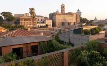 Grande bellezza Roma veduta dal terrazzo casa Scelsi