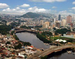 La città di Guayaquil in Ecuador