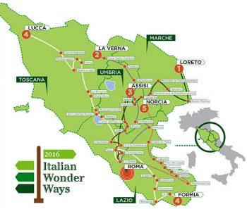 Cammini Italian-Womder-Ways_cartina