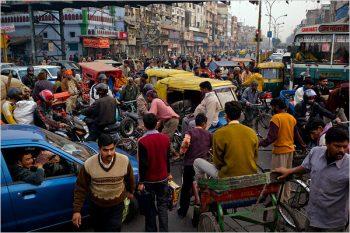 Delhi traffico