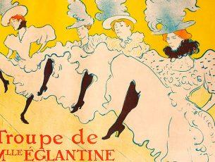 La Troupe de Mademoiselle Églantine 1896 Color Lithography © Herakleidon Museum, Athens Greece