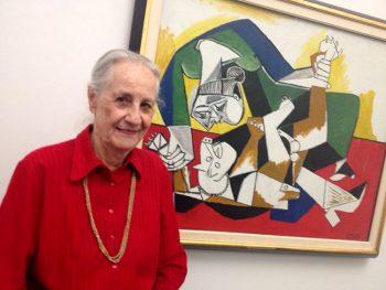 Lucerna.-Collezione-Rosengart-Angela-Rosengart-accanto-ad-uno-dei-quadri-di-Picasso