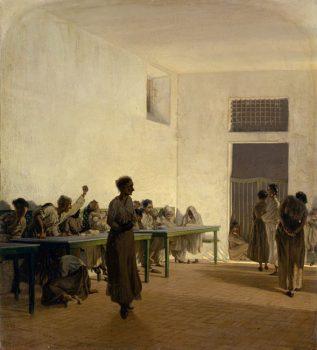 Museo della Follia Telemaco-Signorini-La-sala-delle-agitate-al-Bonifacio-di-Firenze