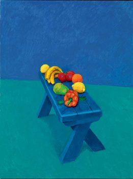 David-Hockney,-Fruit-on-a-Bench-©-David-Hockney