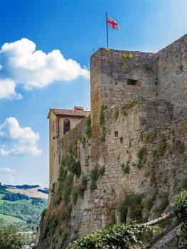 Castrocaro Rocca-mura-esterne