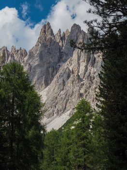 Misurina Cima Cadin della Neve e Cima Pogoffa dal sentiero Carpi Col de Varda