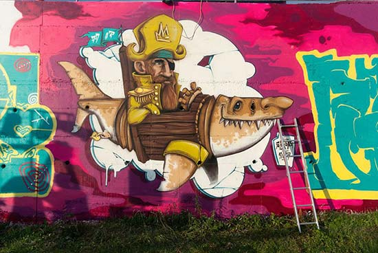 street art Croazia-Graffiti-Na-Gradele-Isola-di-Brač