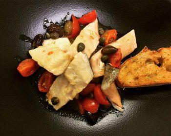 Tirabusù Storione con verdure in aceto