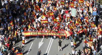 Razzismo Barcellona-cortei-unionisti