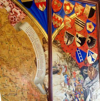 Castelli della Boemia Castello-Karlstejn-Stemmi-dei-cavalieri