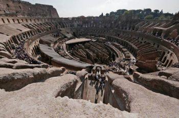 Colosseo veduta dall'attico dell'arena