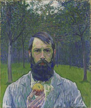 Cuno Amiet, Autoritratto-con-mela-1901