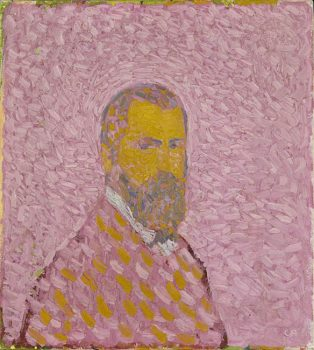 Cuno Amiet, Autoritratto-in-rosa-1907