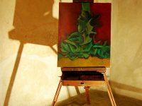 Il Cavalletto restaurato, usato da Imer Guala in Africa Percorso espositivo (Ph P. Ricciardi © Mondointasca)