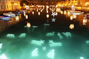 Presepi galleggianti Presepio-subacqueo-Peschiera-del-Garda